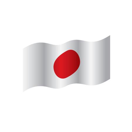 Japan flag, vector illustration  イラスト・ベクター素材