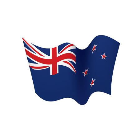 New Zealand flag, vector illustration