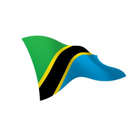 Tanzania flag, vector illustration