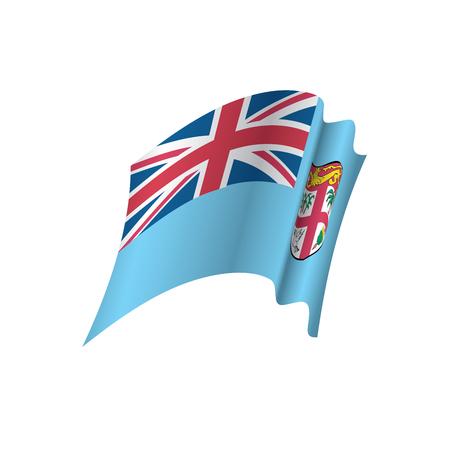 Fiji flag, vector illustration Illustration