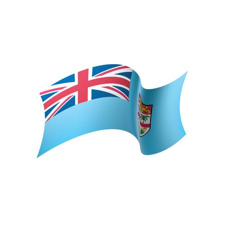 Fiji flag, vector illustration 일러스트