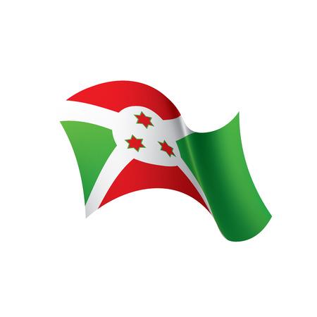 Burundi flag, vector illustration Illustration