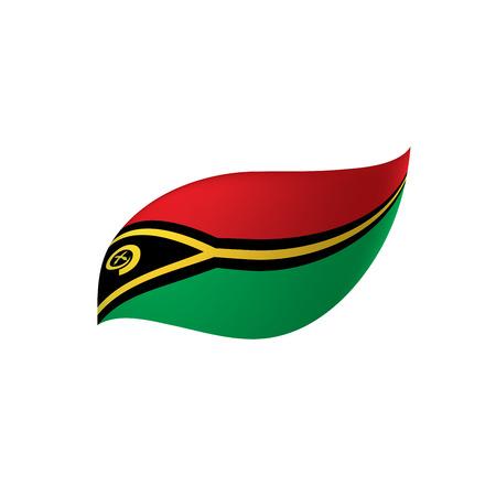 Vanuatu flag, vector illustration Иллюстрация