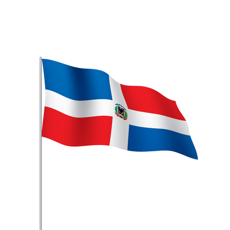 Dominican flag, vector illustration Vectores