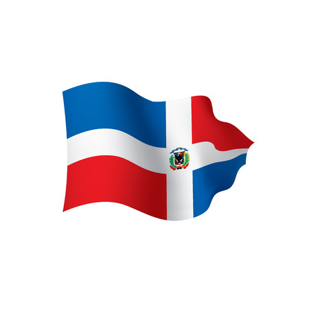 Dominicana flag, vector illustration Banco de Imagens - 95818055