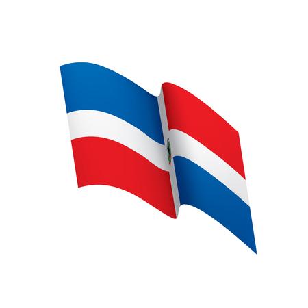 Dominican flag, vector illustration Illustration