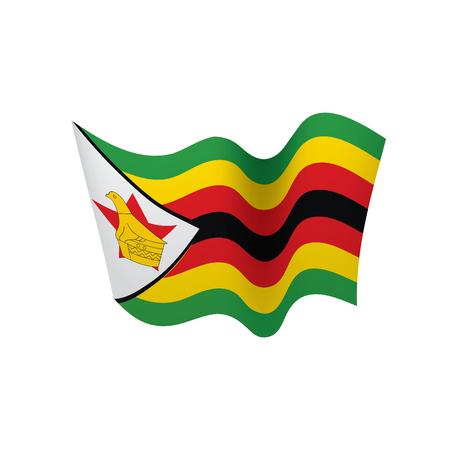 Zimbabwe flag, vector illustration