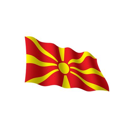 Macedonia flag, vector illustration on white background.