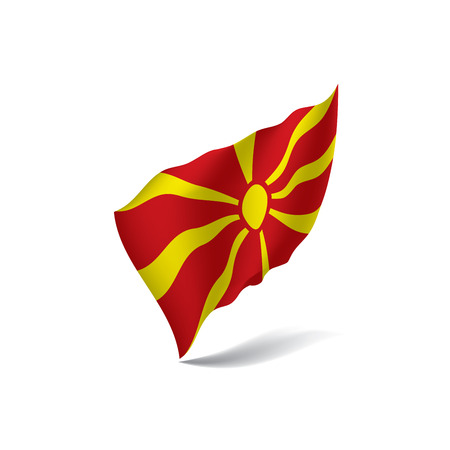 Macedonia flag, vector illustration