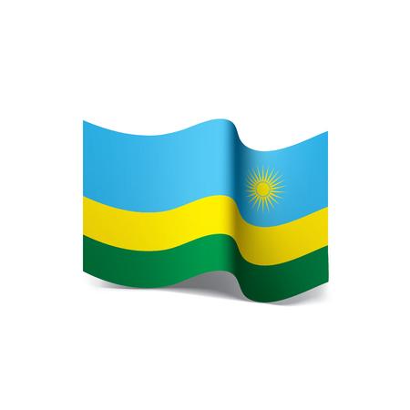Rwanda flag, vector illustration on a white background