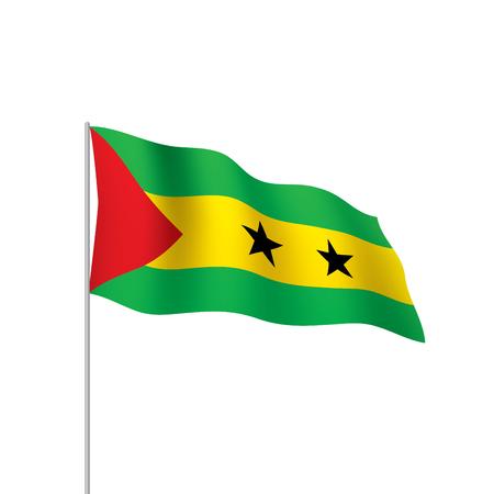 Sao Tome and Principe flag, vector illustration on a white background Ilustração