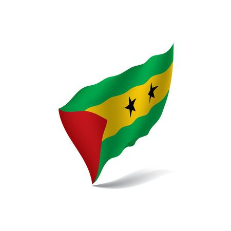 Sao Tome and Principe flag, vector illustration Vetores