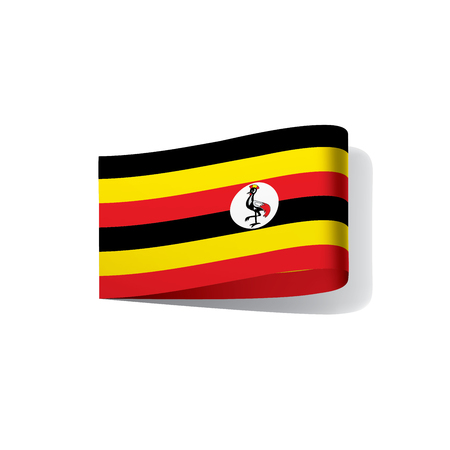 Uganda flag, vector illustration on a white background 일러스트