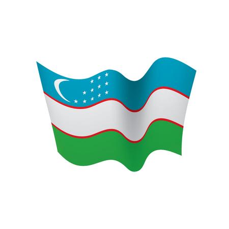 Uzbekistan flag, vector illustration on a white background Illustration