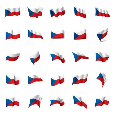 Czechia flag, vector illustration