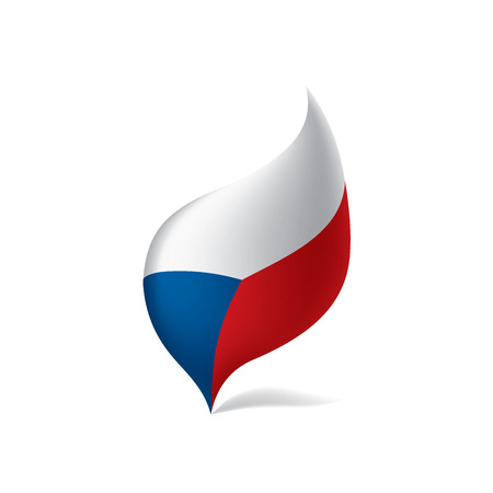 Czechia flag, vector illustration Stock fotó - 95712222
