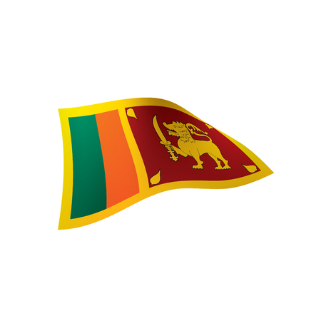 Sri Lanka flag, vector illustration on white background.