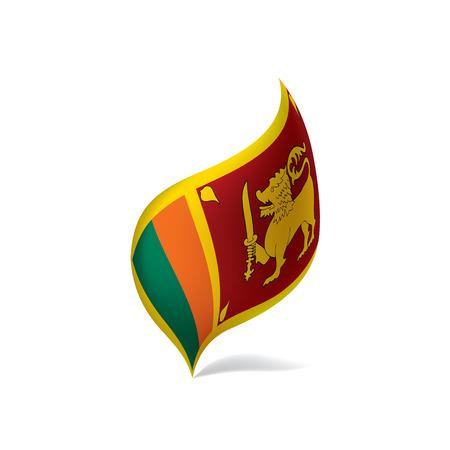 Sri Lanka flag, vector illustration Illustration