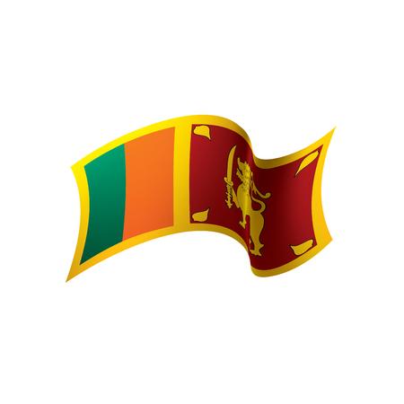 Sri Lanka flag, vector illustration Ilustração