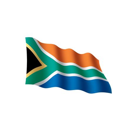 South Africa flag, vector illustration on white background. Illustration