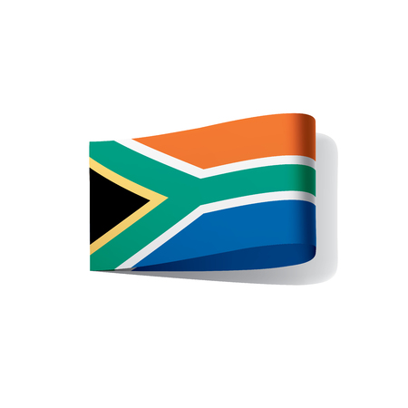 South Africa flag, vector illustration on white background. Illustration
