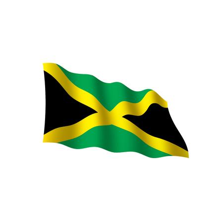 Jamaica flag, vector illustration