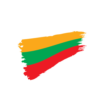 Lithuania flag, vector illustration Stock Vector - 96169305
