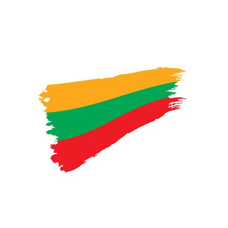 Lithuania flag, vector illustration