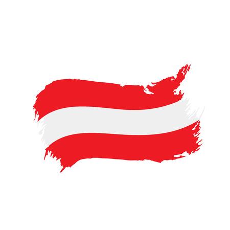 Austria flag, vector illustration