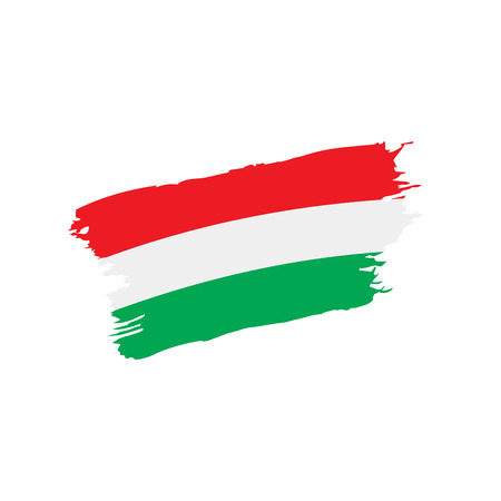 Hungary flag, vector illustration 일러스트