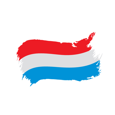 Netherlands flag, vector illustration 矢量图像