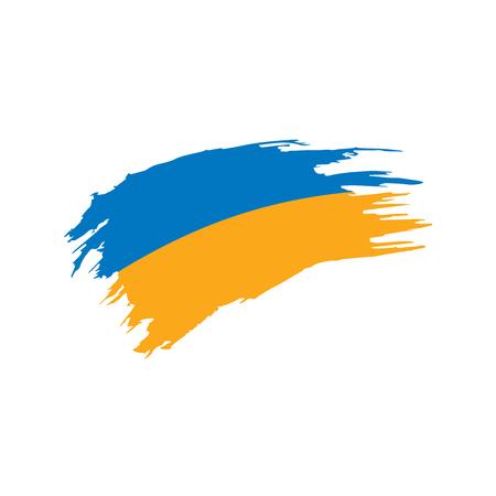 Ukraine flag, vector illustration