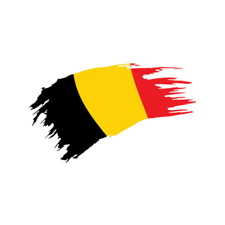 Belgium Flag concept 矢量图像