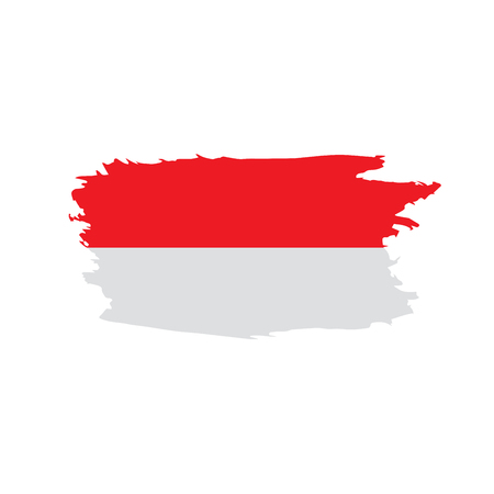 Indonesia flag, vector illustration