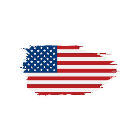USA Flag isolated 矢量图像