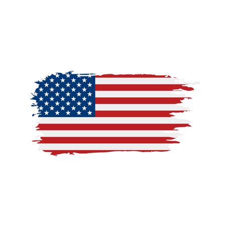 USA Flag isolated 일러스트