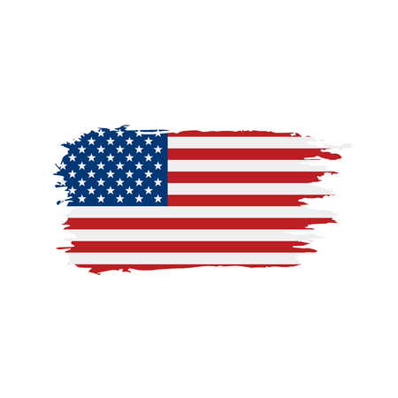 USA Flag isolated Vettoriali