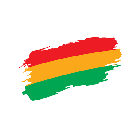 Bolivia flag, vector illustration on a white background 일러스트