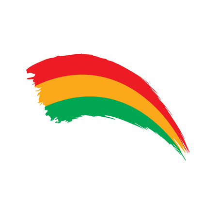 Bolivia flag, vector illustration on a white background Illusztráció