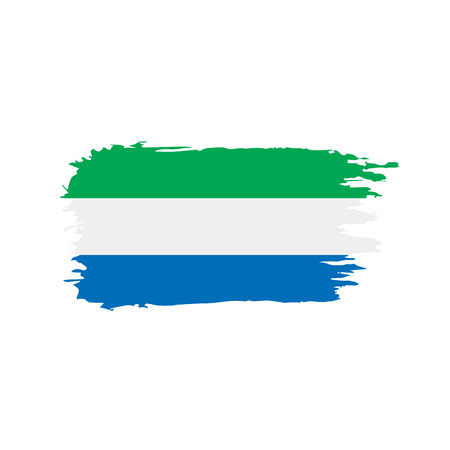 Sierra Leone flag, vector illustration Stock Illustratie