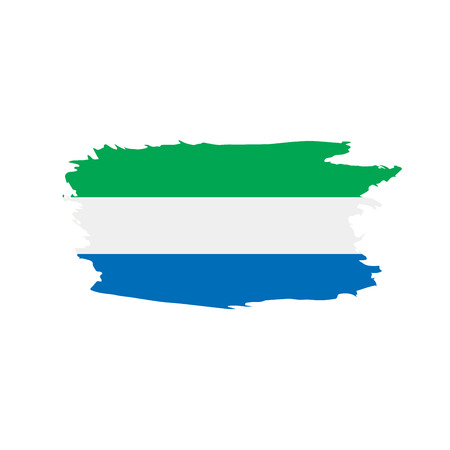 Sierra Leone flag, vector illustration Illustration