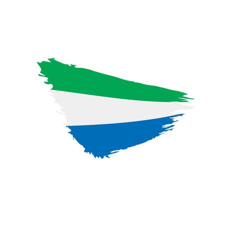 Sierra Leone flag, vector illustration Illustration