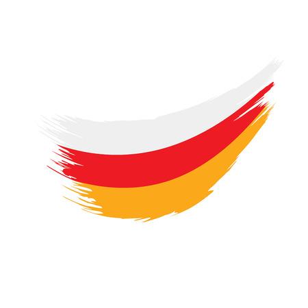 South Ossetia flag, vector illustration