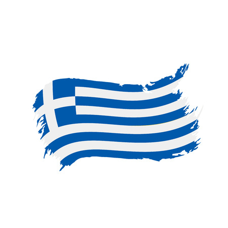 Greece flag, vector illustration