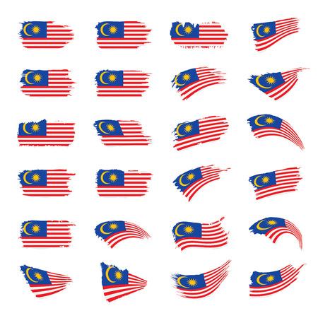 Malaysia flag, vector illustration