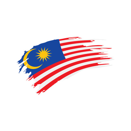 Drapeau de la Malaisie, illustration vectorielle Vecteurs