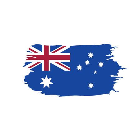 Australia flag, vector illustration Illustration