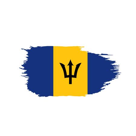 Drapeau de la Barbade, illustration vectorielle