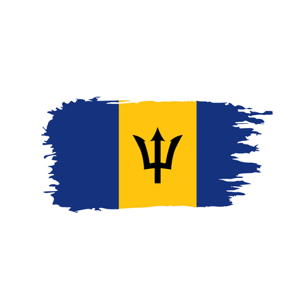 Barbados flag, vector illustration Vettoriali