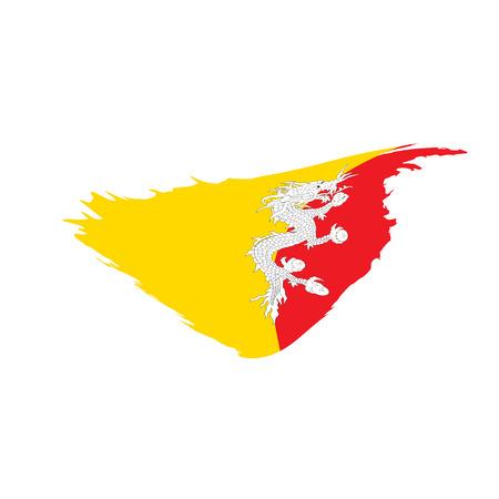 Bhutan flag, vector illustration Illustration